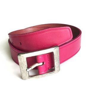Vintage Liz Claiborne Hot Pink Leather Belt